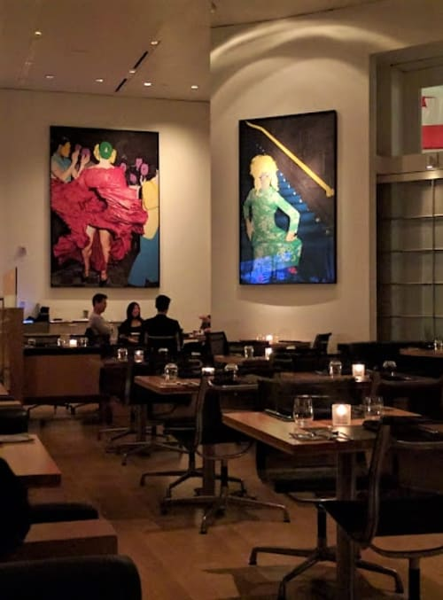 Paintings by John Baldessari seen at Cut, Beverly Hills - Art Collections