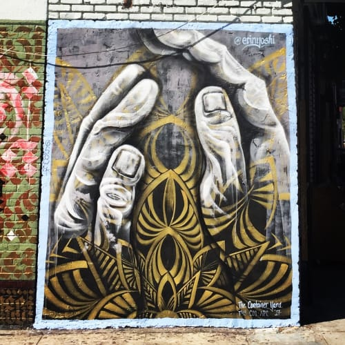 Murals by Erin Yoshi at American Hotel, Los Angeles - The Heart Learns, What the Hands Do
