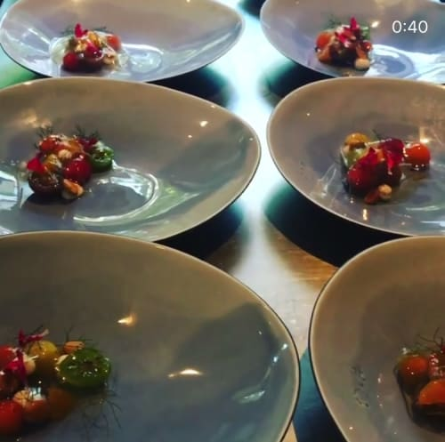 Ceramic Plates by Santimetre Studio by Tulya Madra seen at Alinea, Chicago, Chicago - Spirit Blue Plates For Days