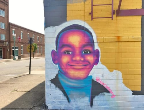 Murals by Tim Carmany seen at The Hub Art Factory, Canton - LeBron James Mural