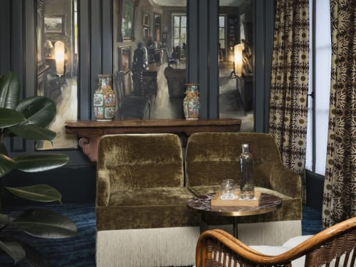 Sconces by Atelier Bespoke seen at Hotel Monte Cristo Paris, Paris - Glass and Brass Wall lamp
