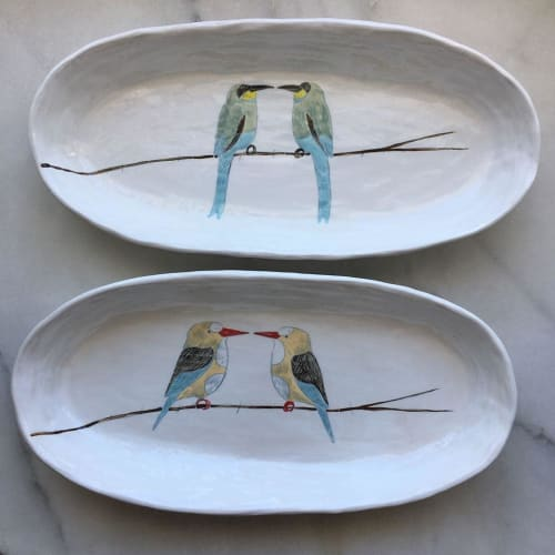 Ceramic Plates by Gemma Orkin Handmade Ceramics seen at Chandler House, Cape Town - Ceramic Oval Dish