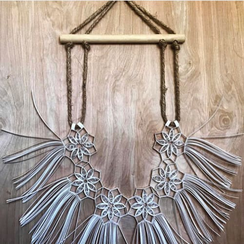 Macrame Wall Hanging by Griffin Carrick Design seen at Private Residence, Nutley - Paper Macrame