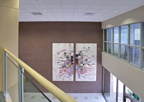 Wall Hangings by Ulrika Leander at Corporate Office Properties Trust, Columbia - Reflections On A Musical Experience