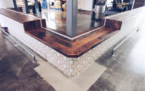 Tables by Monkwood seen at Dripp - Chino Hills, Chino Hills - Viewing and Tasting Bar