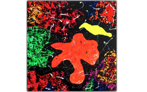 """Paintings by PrisciFranco seen at Private Residence, West Hollywood - """"Cosmic"""""""