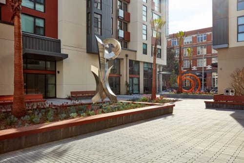 Sculptures by Rob Lorenson at One Henry Adams Apartments, San Francisco - Stainless Steel Sculpture