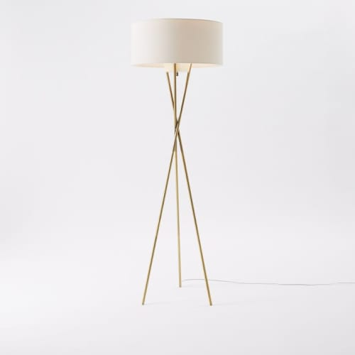 Lighting by West Elm at The Joshua Tree House, Joshua Tree - Mid-Century Tripod Floor Lamp