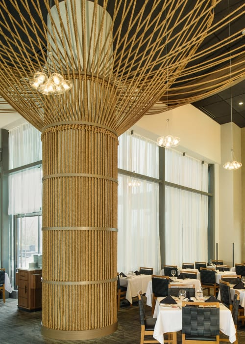 Sculptures by Windy Chien seen at Fogo de Chao Brazilian Steakhouse, Tysons - Rope Trees