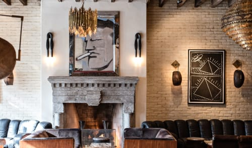 Sconces by Apparatus Studio at The Ludlow Hotel, New York - Horse Hair Sconces