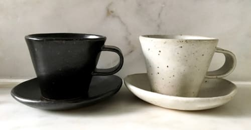 Cups by Len Carella seen at Octavia, San Francisco - Espresso Cup and Saucer