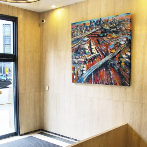 Paintings by Adam O'Day Fine Art seen at One Post Office Square, Boston - Urban Street