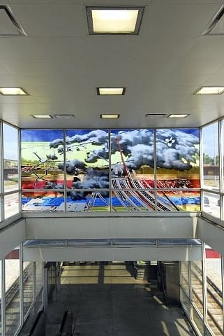 Art & Wall Decor by Sabina Ott seen at 63rd Street Station, Chicago, IL, Chicago - A Red Line and a Cloud