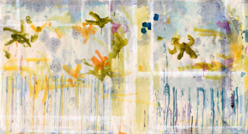 Paintings by Caroline Wright at Page Home Design, Austin - Fragments for Sappho
