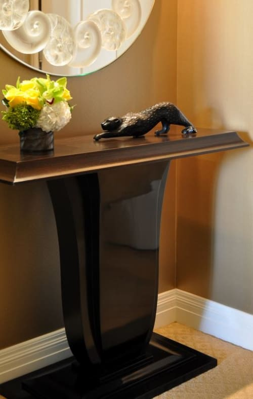 """Sculptures by Lalique seen at Montage Beverly Hills, Beverly Hills - """"Zeila"""" Black Panther"""