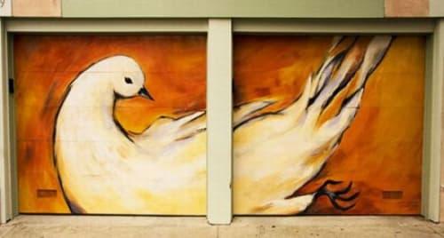 Street Murals by Minna Eloranta seen at Shotwell St, Mission District, San Francisco - Mission Dove