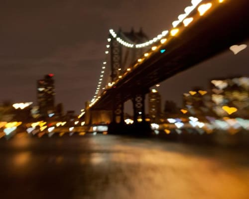 Photography by Lisa Futterman Photography seen at Andaz 5th Avenue, New York - Manhattan Bridge Lights