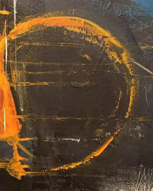 Paintings by S. Kirsch seen at Private Residence, Frankfurt - Orange Blue Mixed Media
