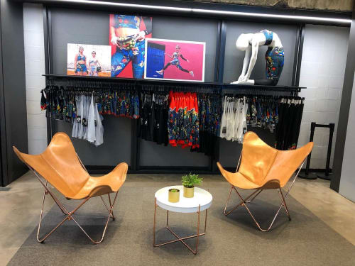 Chairs by Big BKF Buenos Aires seen at Nike Alto Palermo, Palermo - Leather Butterfly Chairs