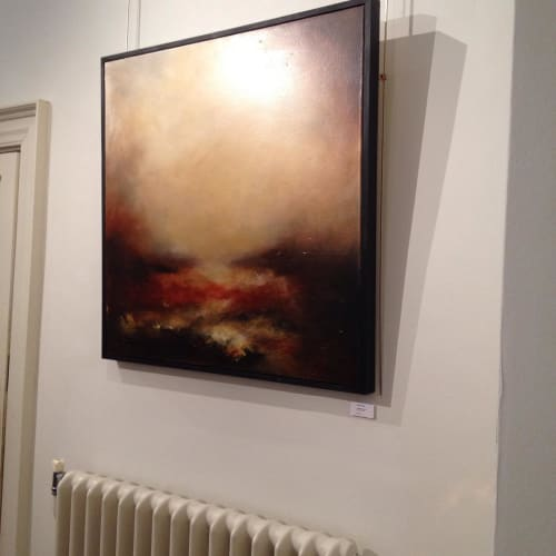 Paintings by Liesha Yaz seen at Pelham House Weddings, Lewes - Atmospheric painting