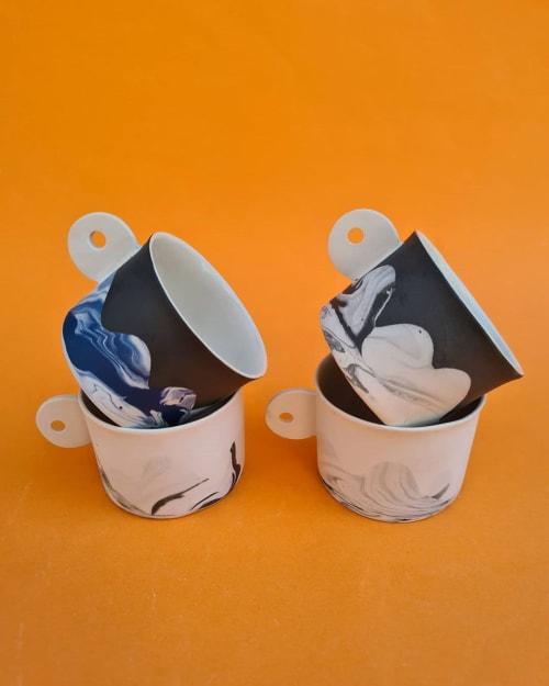 Mountain (M) Ceramic Mugs | Cups by BasicArtCeramic