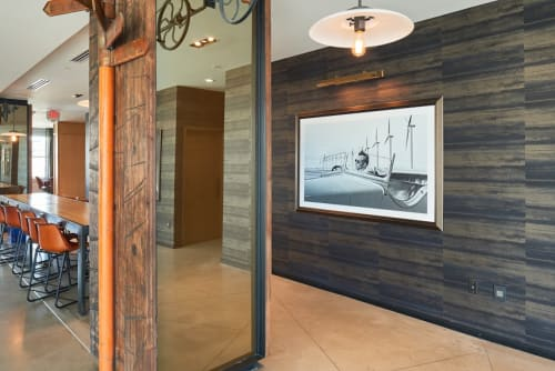 Murals by Jason Archer seen at Hotel Indigo El Paso Downtown, El Paso - Wind is the New Black Gold