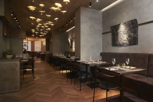 Interior Design by Giuseppe Tortato at Cenerè Restaurant, Milano - Interior Design