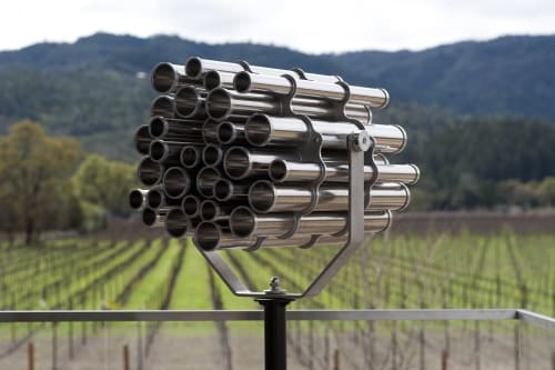 Sculptures by Alyson Shotz seen at HALL Wines, Saint Helena - Viewscope 2006