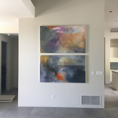 Paintings by Rhea Ashcraft Art seen at Private Residence, Paradise Valley - Art Installation