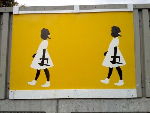 Street Murals by Sharon Lee De La Cruz seen at Hunts Point Avenue Bridge, Bronx - Ruby Walks