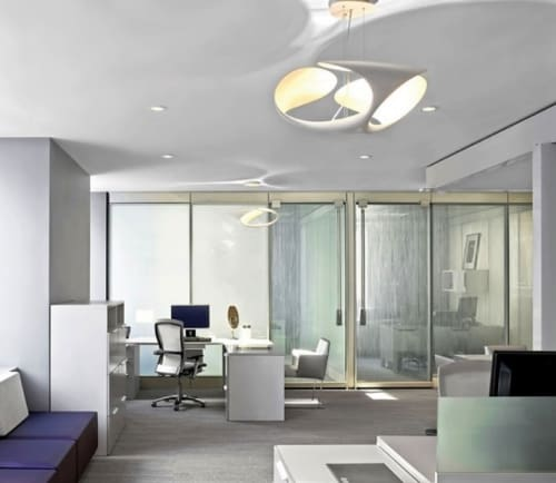 Pendants by Brodie Neill seen at La Prairie at The Ritz-Carlton Spa, New York - Clover Pendant Fixtures