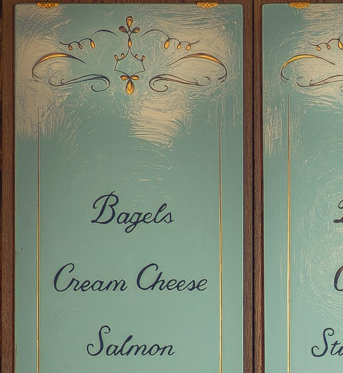 Signage by Lesley Johnson at Sadelle's, New York - Menu Board