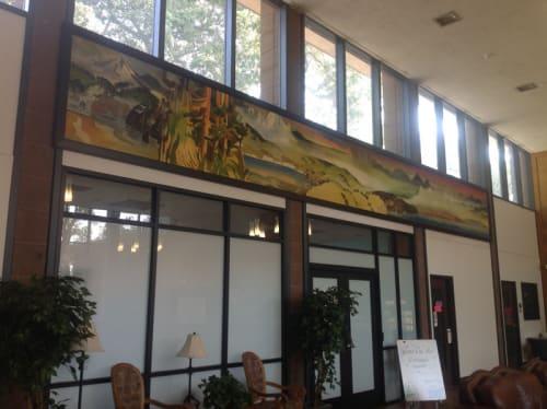 Street Murals by Milford Zornes seen at Fair Avenue, Pomona, Pomona - California Landscape