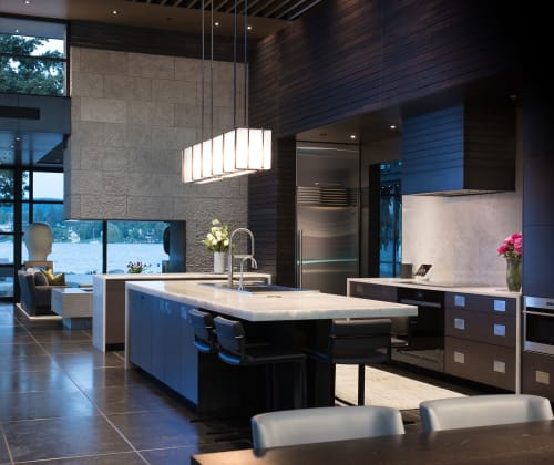 Chandeliers by McEwen Lighting Studio seen at Private Residence, Seattle - Angulo Suspension