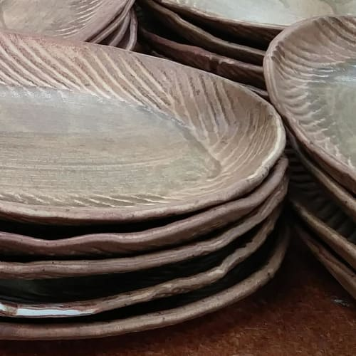 Ceramic Plates by Crazy Green Studios seen at Tandem, Carrboro - Entree Platter
