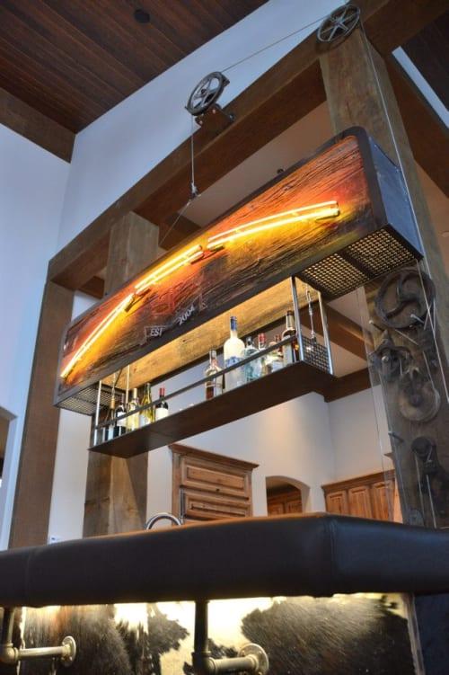 Furniture by MFGR Designs seen at Yellowstone Club, Big Sky - Custom Bar