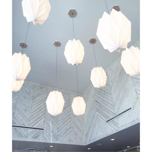 Pendants by The California Workshop seen at Gratitude Newport Beach, Newport Beach - Linen Origami Pendant Light