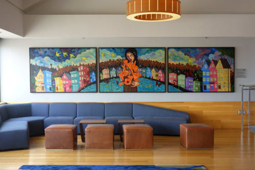 Murals by Ursula Xanthe Young seen at Grand Hyatt San Francisco, San Francisco - What Dreams Are Made Of