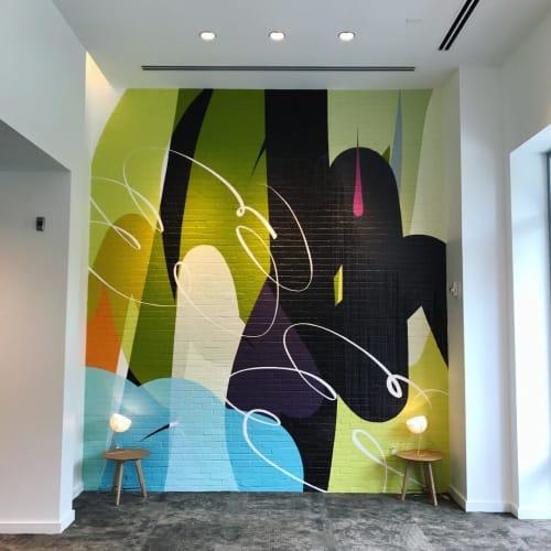 Murals by Ryan Coleman seen at Renaissance Atlanta Airport Gateway Hotel, Atlanta - Acrylic Latex Mural