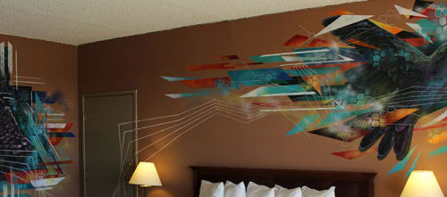 Murals by Garrett Etsitty seen at Nativo Lodge, Albuquerque - Essence of Life