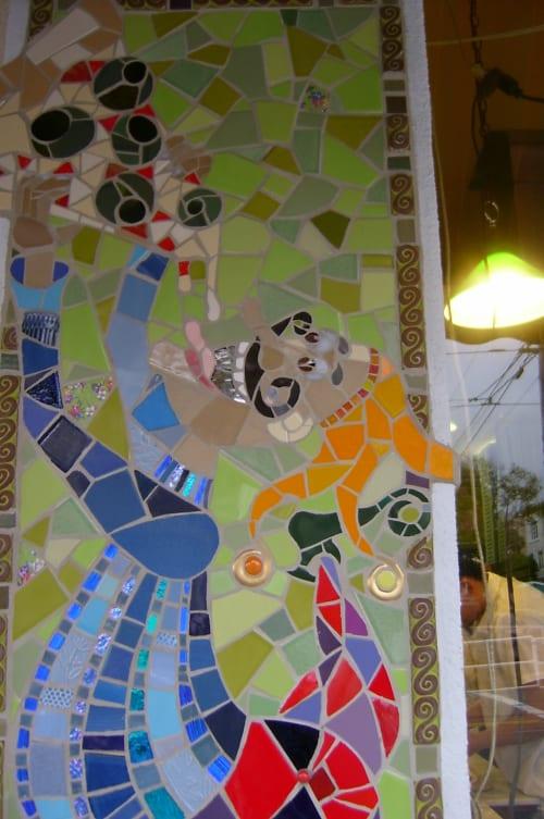 Public Mosaics by Delaine Hackney at Pasquale's Pizzeria Restaurant, San Francisco - Olive Pizza