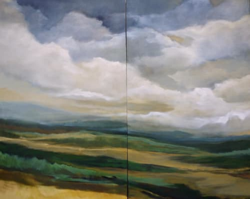 Paintings by Caroline Adams seen at Calloway Fine Art & Consulting Gallery, Washington - After