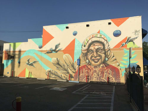 Murals by Erin Yoshi seen at Tonalli Studio, Los Angeles - The Land of WE