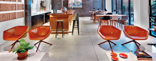 Chairs by Niels Bendtsen seen at Arlo SoHo, New York - Ella Swivel Chairs