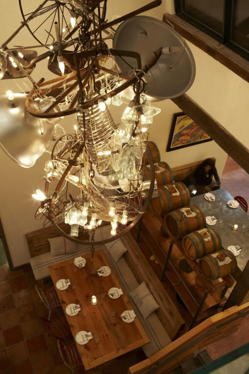 Chandeliers by Warren Muller seen at il Buco Alimentari & Vineria, New York - Chandeliers
