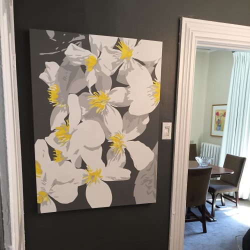 Paintings by Susan Porter Art seen at Private Residence, Westmount - Starburst