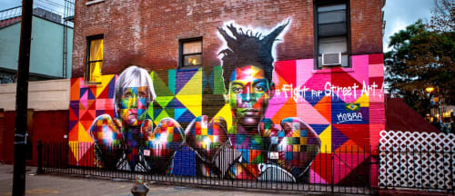 Street Murals by Eduardo Kobra seen at Bedford Avenue, Brooklyn, Brooklyn - Fight for Street Art Mural