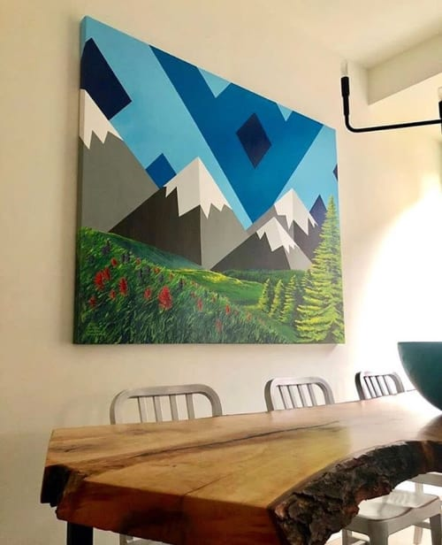 Paintings by Jason T. Graves seen at Private Residence, Denver - Collaborative Painting
