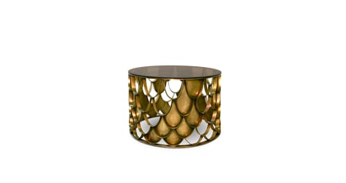 Tables by BRABBU seen at Lotte New York Palace, New York - Koi Center Table