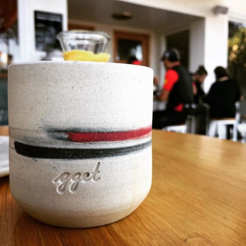 Tableware by Phill Kiho Kim (Phill Kim) seen at Go Get Em Tiger, Los Angeles, CA, Los Angeles - Ceramic Mug